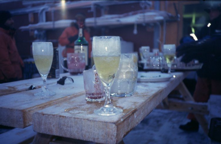 Frozen champagne