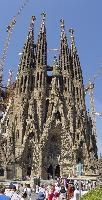 View of the towers of the Sagrada Familia