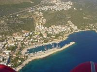 Kaş harbour from the air