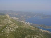 View of Kaş from the air